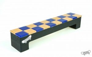 GF Bench – Mosaics – violet orange mix/black